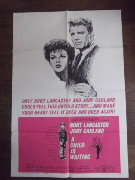 Child is Waiting  Movie Poster, Judy Garland, Burt Lancaster, '63